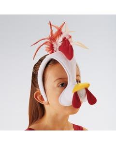 Máscara de gallo con sonido