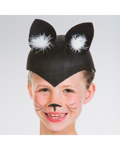 Casco negro con orejas de gato