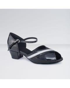 1st Position - Zapatos para Bailes de Salón de Satén con Tacón Cubano