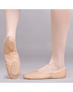 Capezio - Zapatillas de ballet Cobra de cuero con suela dividida