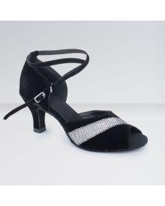 1st Position - Zapatos para Bailes de Salón de Nobuk Blanco & Negro con Hebilla