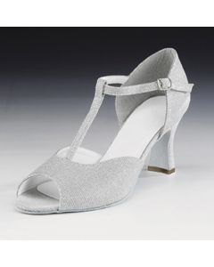 1st Position - Zapatos de cabaret con brillantina plateada