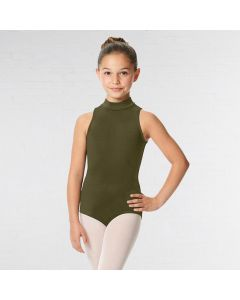Lulli Maillot de Danza de Microfibra con Cuello Alto Penelope