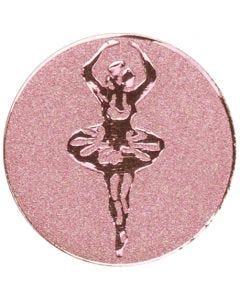 Placa de Metal con Bailarina