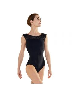 Velvet Collection Boat Neck Cap Sleeve Leotard