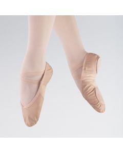 So Danca Zapatilla de Ballet de Cuero con Inserciones Elásticas