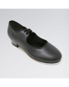 So Danca Zapatos de Claqué de Piel Sintética con Dos Ojales y Suela de Cuero