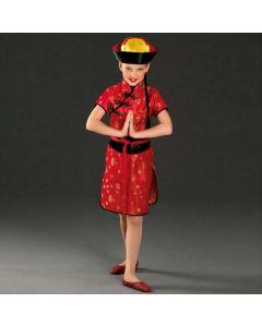 Disfraz rojo de china