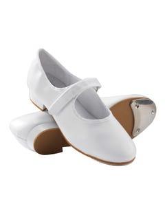 1st Position - Zapatos Blancos de Claqué con Autocierre