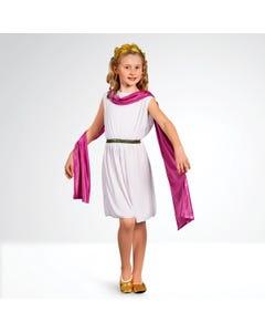 Disfraz de Diosa Griega Infantil (Tiara no Incluida)