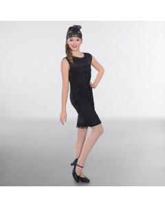 Vestido negro de charlestón (talla niño)