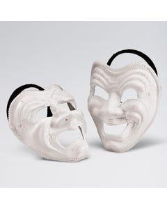 Máscara con expresión alegre