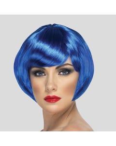 Peluca corta azul estilo bob